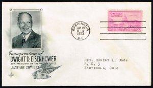 Dwight D. Eisenhower Artcraft Cachet Inauguration Day Cover