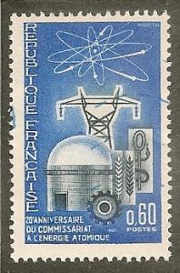 France   Scott 1135   Atomic Reactor       Used