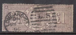 Great Britain #110 (SG #185) Used