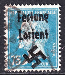 FRANCE 192 FESTUNG LORIENT OVERPRINT USED F/VF SOUND