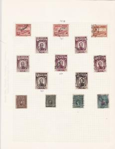 peru 1930s  stamps on  album page ref r11900