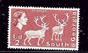 South Georgia #1 MNH 1963 Reindeer