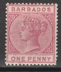 BARBADOS 1882 QV 1D