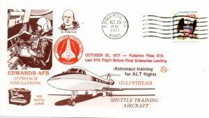 US, Shuttle Astronaut Training Fo ALT Flights,10/25/77, Space Voyage (7503)