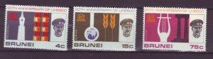 J21998 Jlstamps 1966 brunei set mh #128-30 unesco