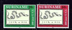Surinam 458-59 MNH 1976 American Bicentennial