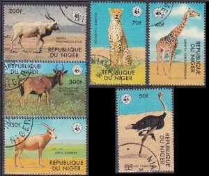 1978 Niger 633-638used Fauna 10,00 €
