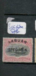 LABUAN (PP1811B)   BOAT 8C SPECIMEN     SG 68S  MOG
