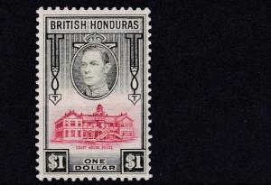 BRITISH HONDURAS    1938 - 47     S G  159  $1 VALUE   MH