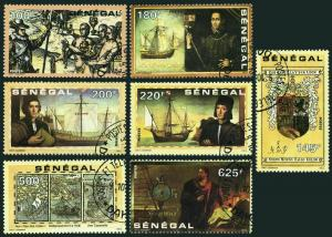 Senegal 932-938,CTO.Michel 1139-1145. Discovery of America-500,1992.Columbus.