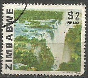 ZIMBABWE, 1980, used $2, Bridal Veil Falls, Scott 428