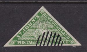 Newfoundland 1857 3c Forgery and Cancel VGC