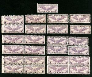 US Stamps # C16 F-VF OG NH Lot of 25 Catalog Value $212.00