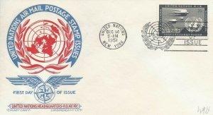 UN #C4 25c UN AIR MAIL - Cachet-Craft - Staehle