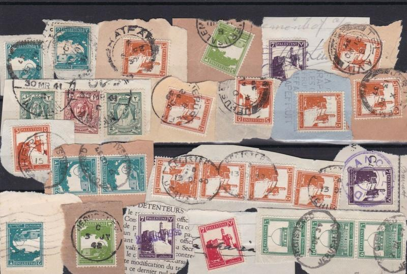 palestine used stamps cancelled on piece  ref r12528