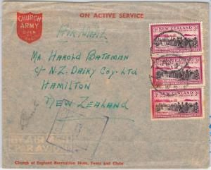 56531  - NEW ZEALAND - POSTAL HISTORY:  MILITARY MAIL COVER - WW2