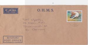 Aitutaki  O.H.M.S. air mail  stamps  cover  R19984