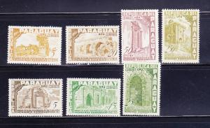 Paraguay 491-497 Set MHR Jesuit Ruins (A)