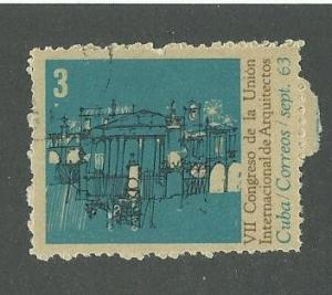 1963 Cuba Scott Catalog Number 809 Used
