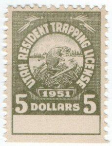 (I.B) US Revenue : Trapping License $5 (Utah)