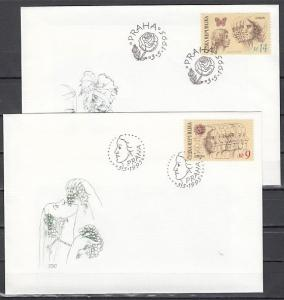 Czech Rep., Scott cat. 2954-2955. Europa with Butterfly issue. First Day Covers.