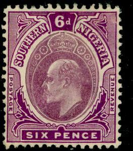 SOUTHERN NIGERIA SG39, 6d dull purple & purple, LH MINT. Cat £50.