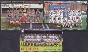 St Vincent #1052-3, 1058  F-VF Unused CV $4.20 (S10093)
