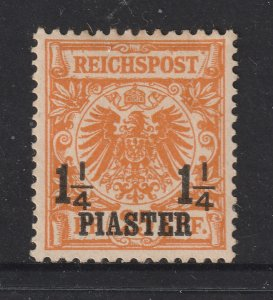 German PO's in Turkey a MH 1.25P on 25pf from 1889