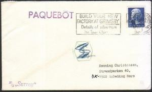 GB DENMARK 1975 ship cover GRIMSBY PAQUEBOT................................46664