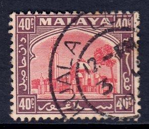 Malaya (Selangor) - Scott #55 - Used - Toning, pencil/rev. - SCV $1.25