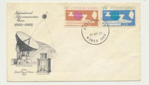 PITCAIRN IS 1965 ITU SET ON FIRST DAY COVER ILLUSTRATED (SEE BELOW)