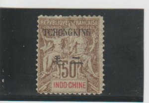Tchongking  Scott#  45  Used  (1908 Surcharged)