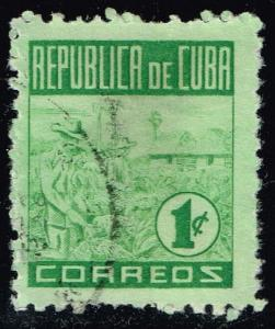 Cuba #420 Tobacco Picking; Used (0.25)