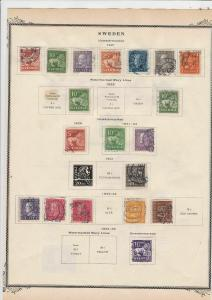 sweden  stamps on album page ref r11843