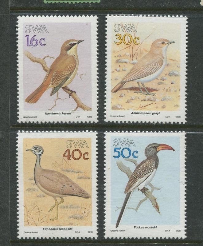 South West Africa - Scott 606-609 - Birds Issue -1988 - MNH- Set of 4 Stamps