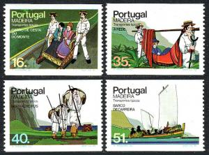 Portugal Madeira 97-100 bklt.stamps,MNH.Traditional means of transportation,1984