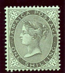 Jamaica 1910 QV 1s black/green MLH. SG 54. Sc 43.