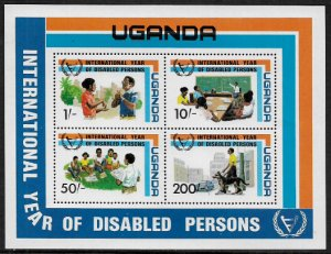 Uganda #326a MNH S/Sheet - Year of the Disabled