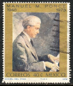 MEXICO 1059, Manuel M. Ponce, Composer. Used. VF. (475)