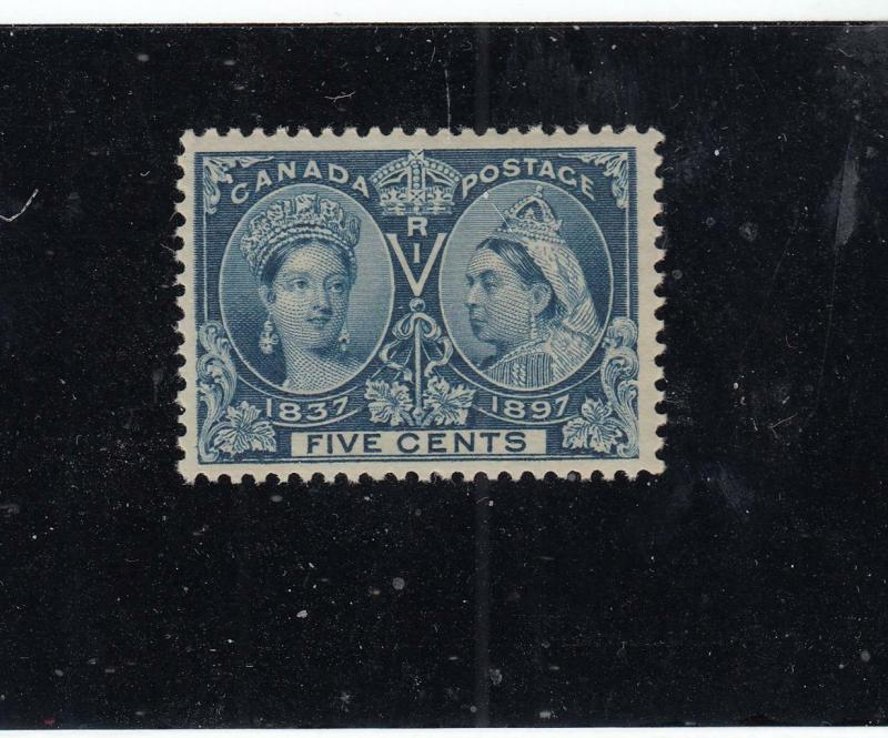 CANADA  # 54 VF-MNH 5cts QUEEN VICTORIA DIAMOND JUBILEE /DP BLUE CAT VALUE $300