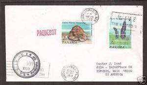 Panama Sc 549-550 on 1980 US S.S. Calypso PAQUEBOT Cover, clean