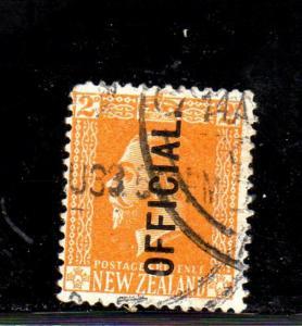 NEW ZEALAND #O45  1917  KING GEORGE V OFFICAL      F-VF USED