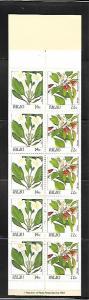 PALAU, 132B, MNH,  BOOKLET PANE  FLOWERS