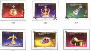 Jersey Sc 1085-0 2003 Coronation 50 Years stamp set used