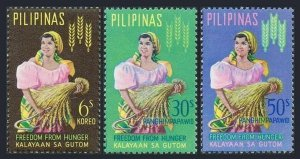Philippines 902,C88-C89,MNH.Michel 741-743.FAO Freedom from Hungry campaign 1963