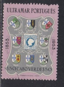 Cape Verde # 296, Portugese Stamps Centennary, Used 1/2 Cat.