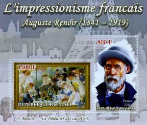 Mali 2010 Auguste Renoir PAINTINGS s/s Perforated mnh.vf
