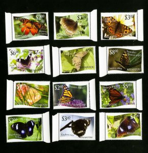 Niuafo'ou Stamps # 275-86 XF Butterfly Set OG NH