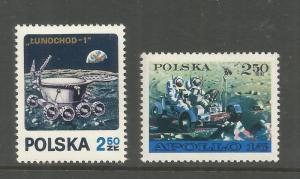 POLAND 1850-1851, MNH, APOLLO 15 US MOON EXPLORATION MISSION