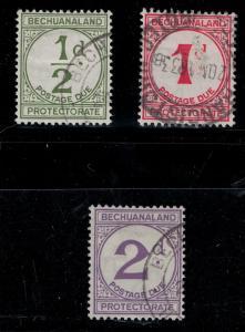 Bechuanaland SC J4-J6 Used Set 1932 SCV$ 128.00